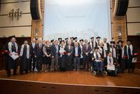 Our first graduates with our honored guests